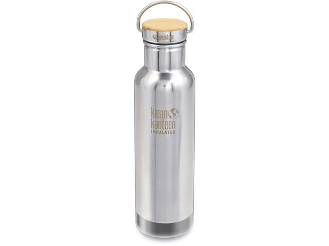 Klean Kanteen Reflect Vacuum Insulated Bottle w. Unibody Bamboo Cap 592ml mirrored stainless